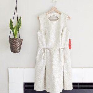 New Monique Lhuillier Jacquard Cutout Dress